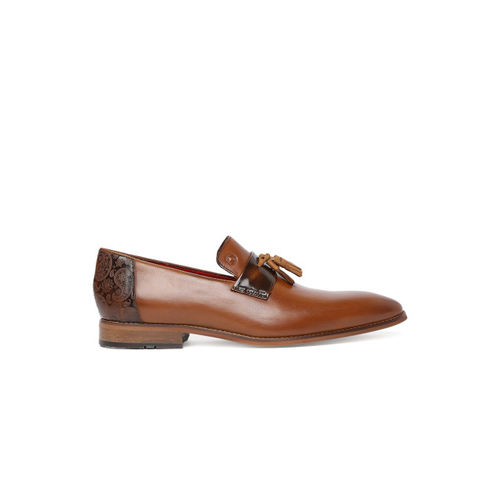 Ruosh Men Brown Formal Leather Slip-Ons