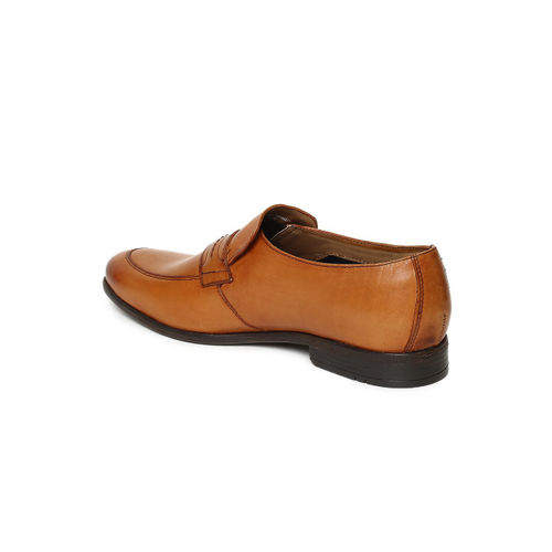 Ruosh Men Brown Leather Loafers
