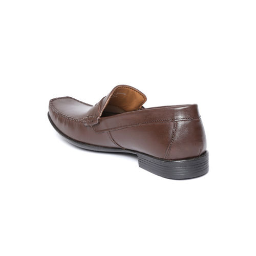 Ruosh Men Brown Leather Formal Loafers