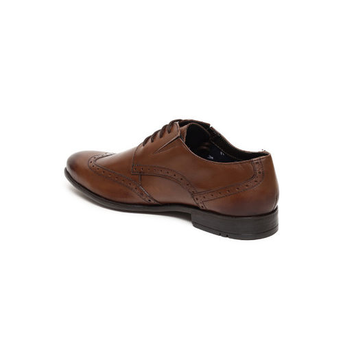 Ruosh Men Brown Formal Leather Brogues