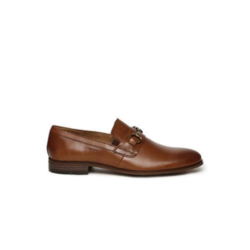 Ruosh Men Brown Milan Genuine Leather Semiformal Slip-On Shoes