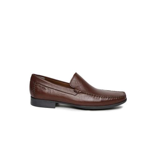 Ruosh Work Men Brown Genuine Leather Semiformal Slip-Ons