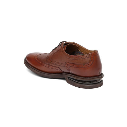 Ruosh Men Tan Brown Leather Formal Brogues