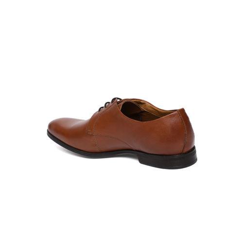 Ruosh Men Tan Brown NULL Formal Leather Derbys
