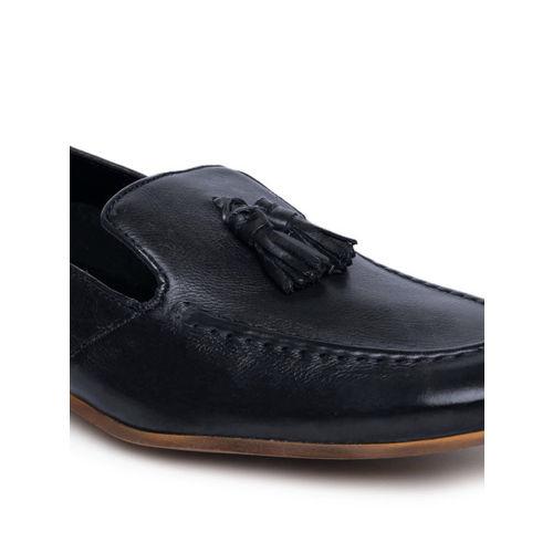 Ruosh Men Navy Blue Genuine Leather Semiformal Slip-Ons