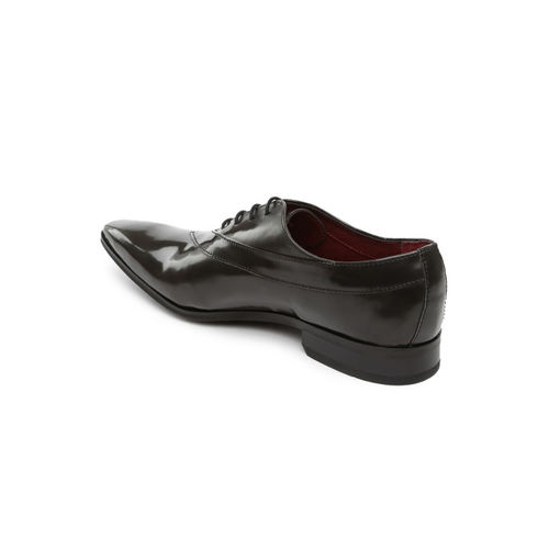 Ruosh Club Men Grey Oxford Shoes