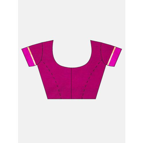 The Chennai Silks Olive Green & Pink Silk Cotton Woven Design Saree