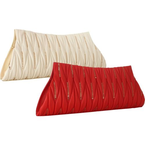 Element Cart Party, Formal, Casual Red, White Clutch