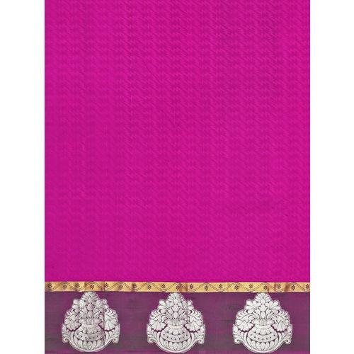 The Chennai Silks Classicate Magenta Pure Silk Woven Design Kanjeevaram Saree