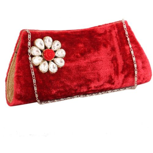 Sukkhi Party Red Clutch