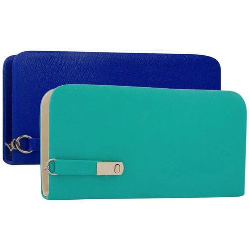 Mammon Casual Green, Blue Clutch