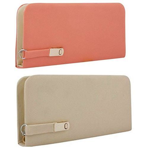 View Bags Party, Formal, Casual Peach, Cream Clutch