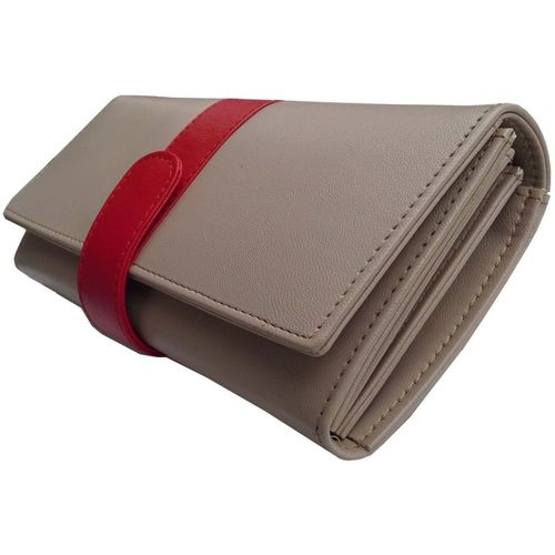 Alifs Party Red, Beige Clutch