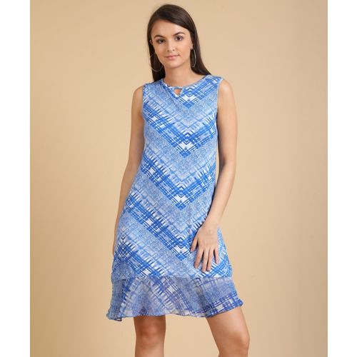 AND Women A-line Blue Dress