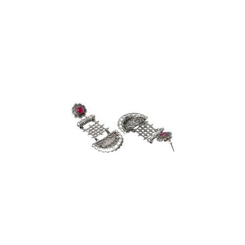 PANASH Silver-Toned Classic Drop Earrings