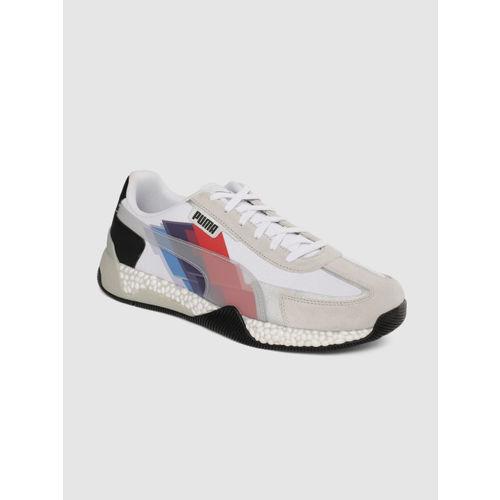 Puma Unisex White BMW MMS Speed Hybrid Sneakers