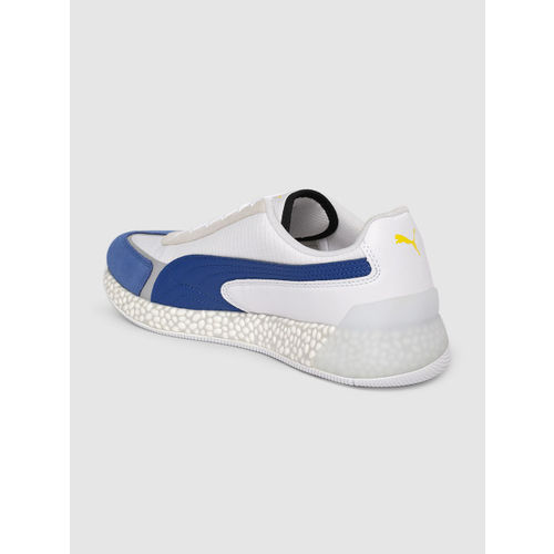 Puma Unisex White & Blue SF Speed Hybrid Sneakers