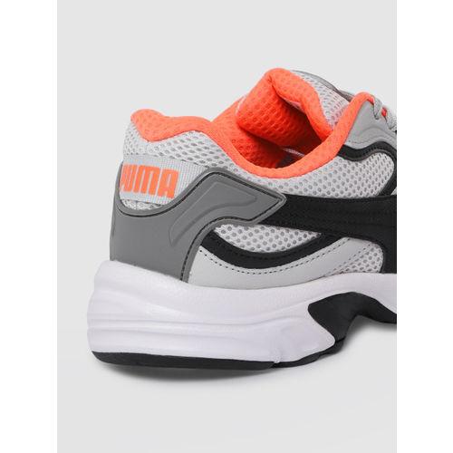 Puma Unisex Grey & Black Axis Plus 90s Sneakers