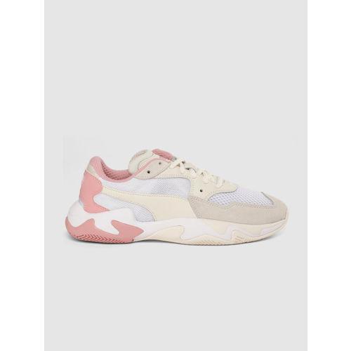 Puma Unisex Cream-Coloured STORM ORIGIN Sneakers