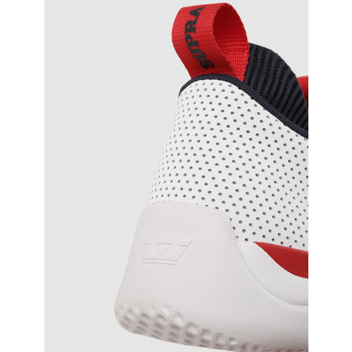 Supra Men White Instagate Perforated Leather Sneakers