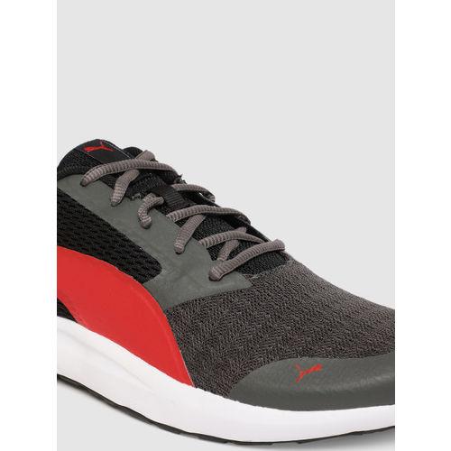 Puma Men Black & Red Max Idp Running Shoes