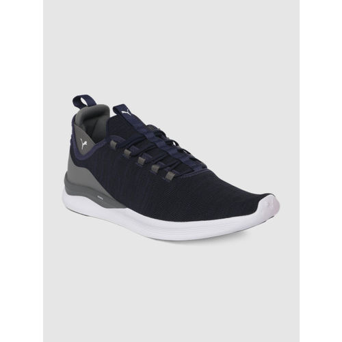 Puma Men Navy Blue Ignite Flash Daunt Evoknit Running Shoes