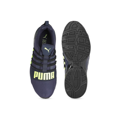 Puma Men Navy Blue Mesh Lightweight Cell Regulate Camo Running Shoes
