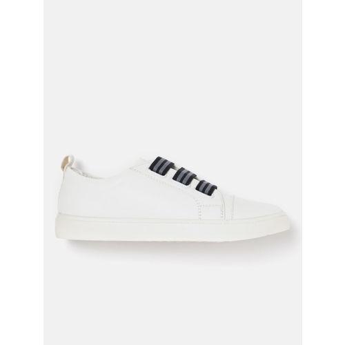 Mast & Harbour Women White Slip-On Sneakers