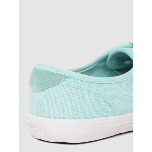 Superdry Women Sea Green Solid Sneakers