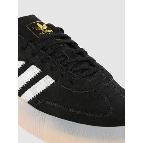 ADIDAS Originals Women Black Solid Sambarose Leather Flatform Sneakers