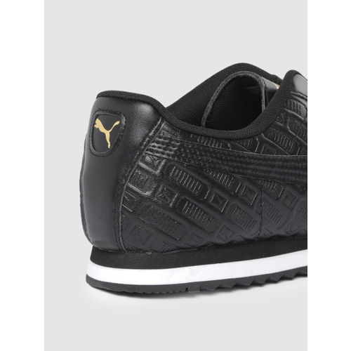 Puma Women Black Roma Reinvent Leather Sneakers