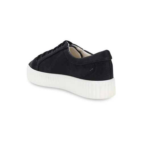 Flat n Heels Women Black Flatforms