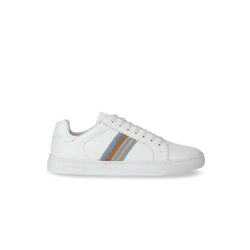 Aditi Wasan Women White Vegan Leather Sneakers
