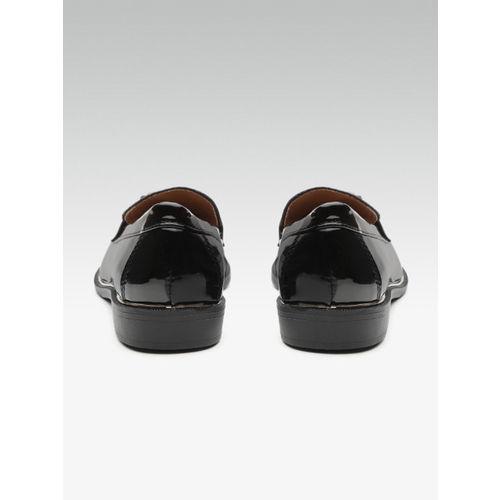 DOROTHY PERKINS Women Black Snakeskin Pattern Loafers