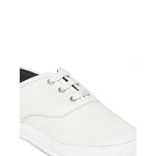 Bruno Manetti Women White Slip-On Sneakers