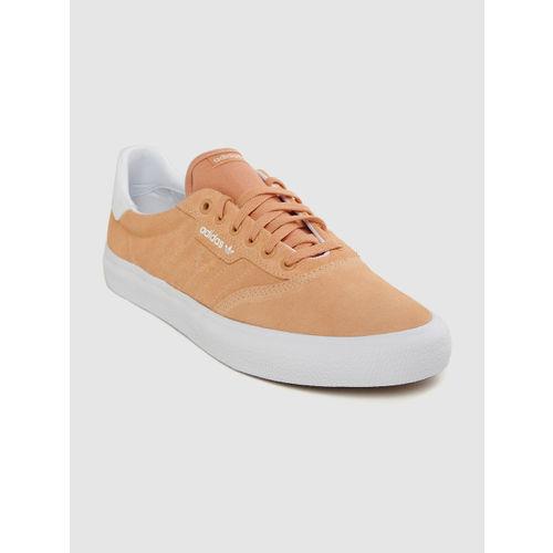 ADIDAS Originals Unisex Peach-Coloured 3MC Leather Sneakers