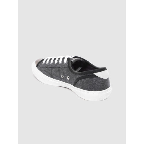 Superdry Women Charcoal Grey Solid Sneakers