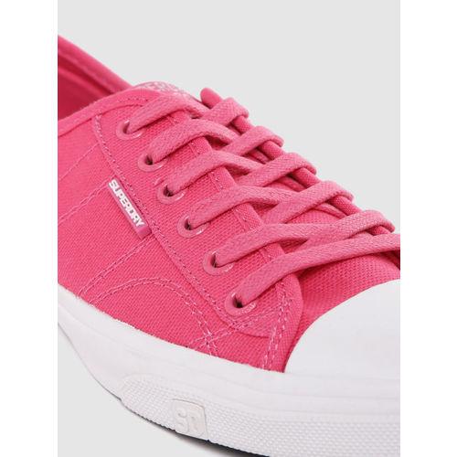 Superdry Women Pink Solid Sneakers
