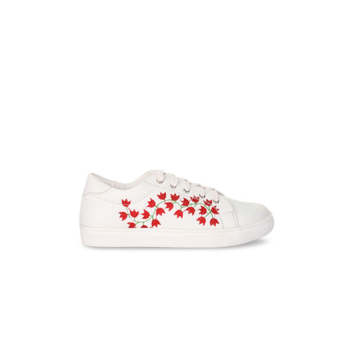 Bruno Manetti Women White Sneakers