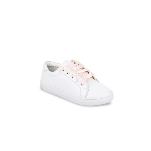 Bruno Manetti Women White Sneakers