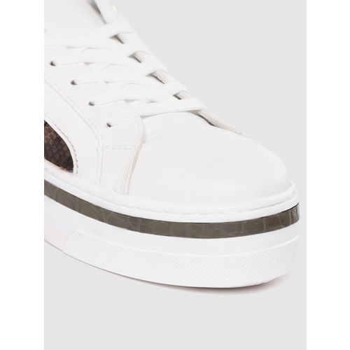 DOROTHY PERKINS Women White Flatform Sneakers