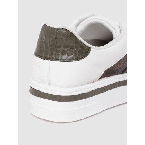DOROTHY PERKINS Women White Flatform Sneakers