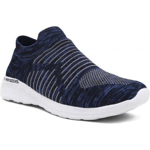 Asian Airsocks-01 Navy Blue Synthetic Slip-on Shoes