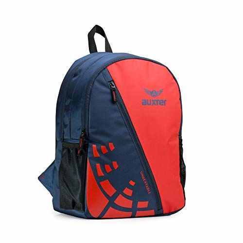 AUXTER UNB 30 LTR Red/Blue School Bag Casual Backpack with Laptop Compartment