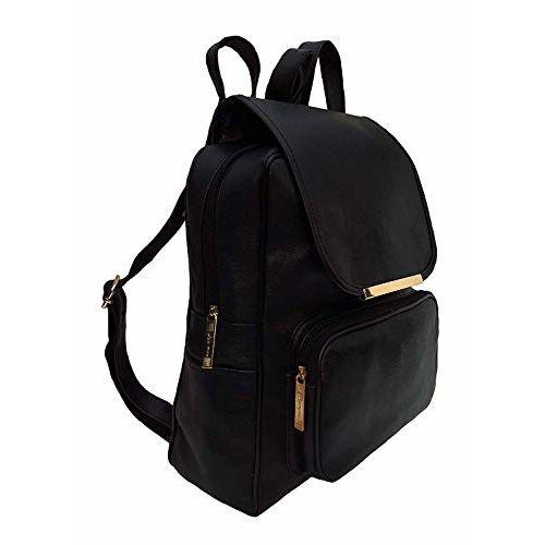 Bizarre Vogue Black Canvas Casual Backpack