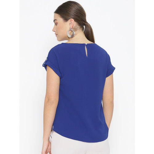 DOROTHY PERKINS Women Blue Solid High-Low Top
