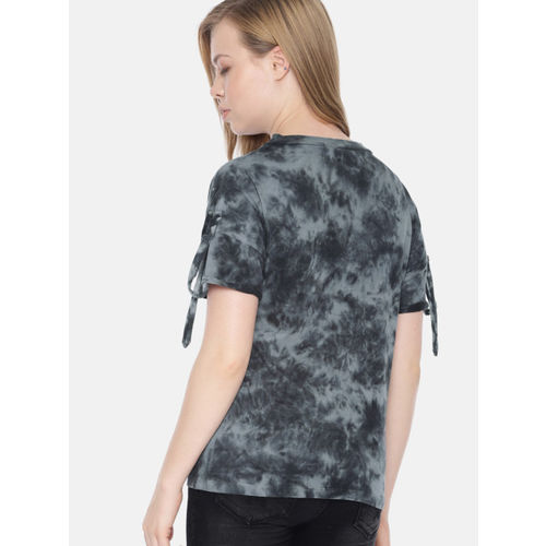 Roadster Women Charcoal Dyed Top