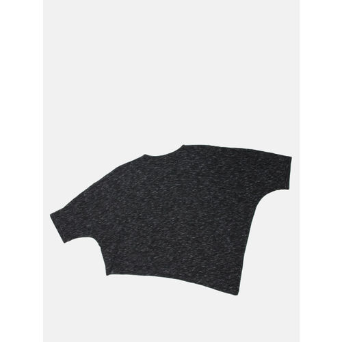 Roadster Women Black Solid Boxy Cropped Top