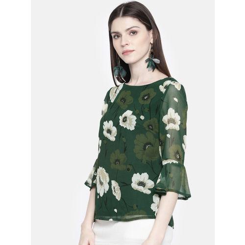 all about you from Deepika Padukone Women Green Printed Regular Top
