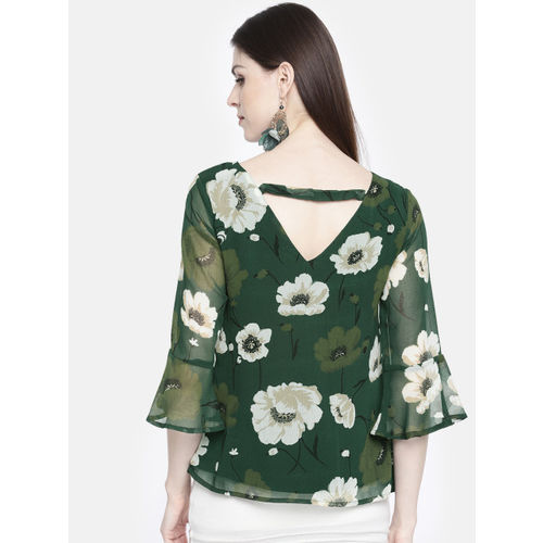 all about you from Deepika Padukone Women Green Printed Regular Top
